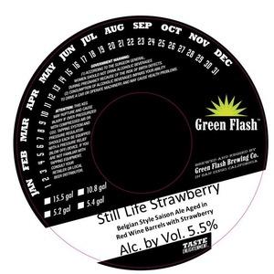 Green Flash Brewing Company Still Life Strawberry