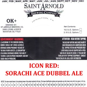 Saint Arnold Brewing Company Icon Red Sorachi Ace Dubbel