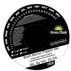 Green Flash Brewing Company Brett Barrel Trippel