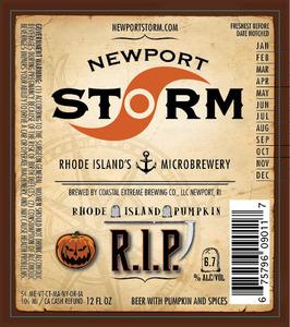 Newport Storm Rhode Island Pumpkin