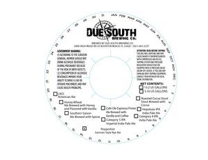 Due South Brewing Co. Roggenbier