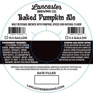 Lancaster Brewing Company Baked Pumpkin Ale