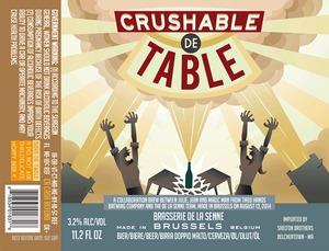 Brasserie De La Senne Crushable De Table