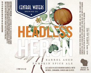 Central Waters Brewing Company Headless Heron