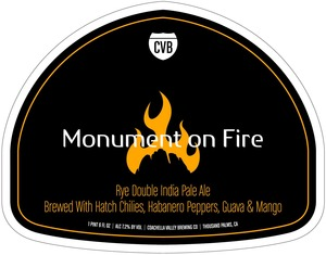 Coachella Valley Brewing Co Monument On Fire