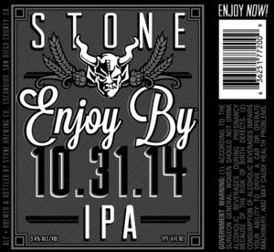 Stone Enjoy By IPA September 2014
