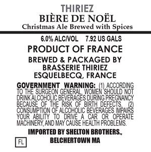 Brasserie Thiriez Biere De Noel