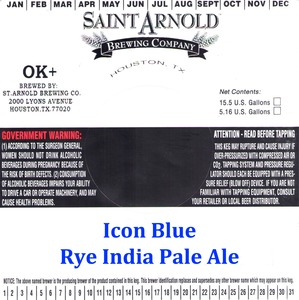 Saint Arnold Brewing Company Icon Blue