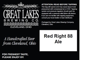 The Great Lakes Brewing Co. Red Right 88
