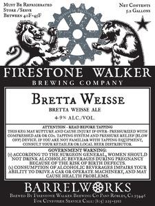Firestone Walker Brewing Company Bretta Weisse
