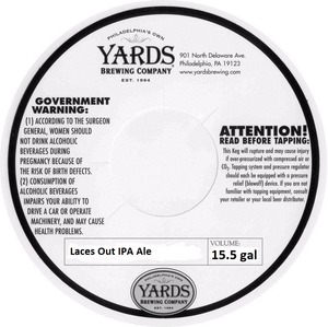 Yards Brewing Company Laces Out IPA Ale