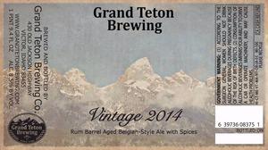 Grand Teton Brewing Company Vintage 2014
