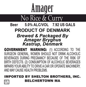 Amager Bryghus No Rice And Curry