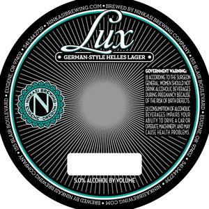 Ninkasi Brewing Company Lux German-style Helles Lager