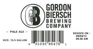 Gordon Biersch Brewing Company Pale Ale