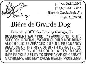 Off Color Brewing BiÉre De Guarde Dog