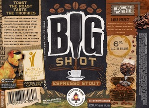 Twisted Pine Brewing Company Big Shot Espresso Stout September 2014