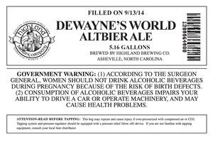 Highland Brewing Co. Dewayne's World