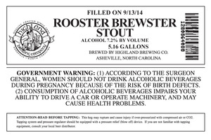 Highland Brewing Co. Rooster Brewster