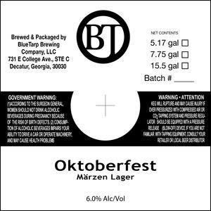 Bluetarp Brewing Co. Oktoberfest