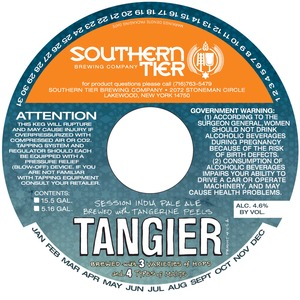 Southern Tier Brewing Company Tangier