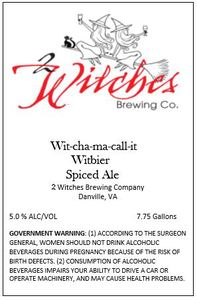 2 Witches Brewing Company Wit-cha-ma-call-it Witbier