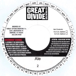 Great Divide Brewing Company Ale 2