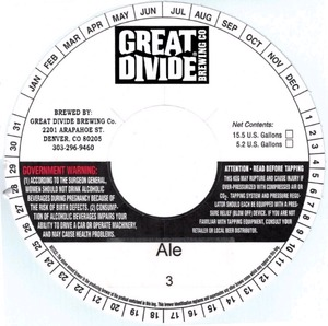 Great Divide Brewing Company Ale 3
