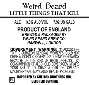 Weird Beard Little Things That Kill