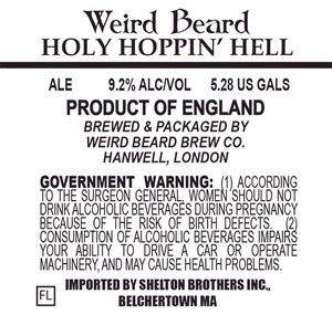 Weird Beard Holy Hoppin Hell
