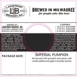 Lakefront Brewery, Inc Imperial Pumpkin