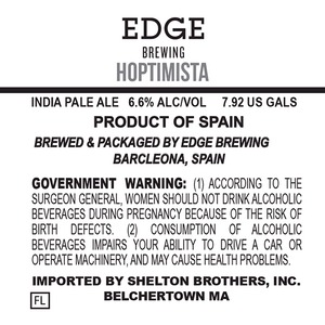 Edge Brewing Hoptimista