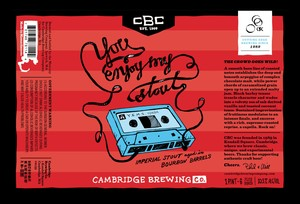 Cambridge Brewing Company You Enjoy My Stout