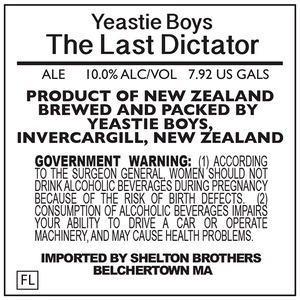 Yeastie Boys The Last Dictator