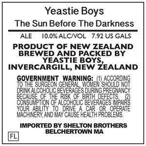 Yeastie Boys The Sun Before The Darkness