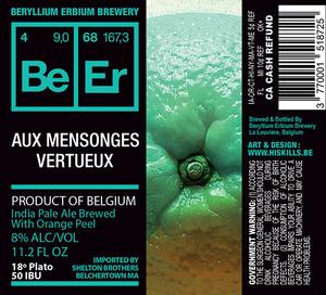Beryllium Erbium Brewery Aux Mensonges Verteux