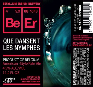 Beryllium Erbium Brewery Que Dansent Les Nymphes