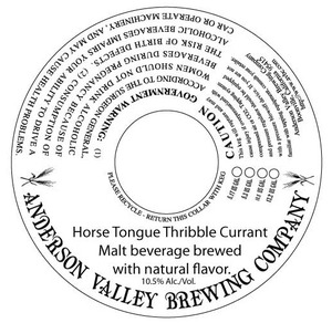 Anderson Valley Brewing Company Horse Tongue Thribble Currant