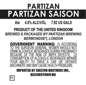 Partizan Brewing Partizan Saison