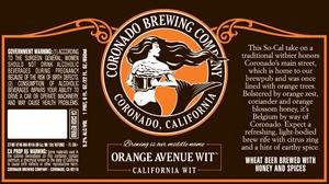 Coronado Brewing Company Orange Avenue Wit