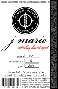 River North Brewery J Marie Whiskey Barrel Aged