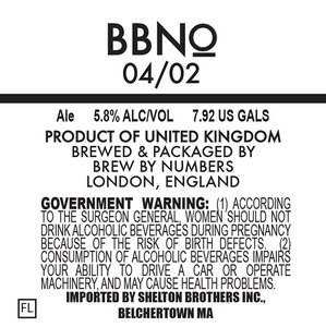 Brew By Numbers 04/02