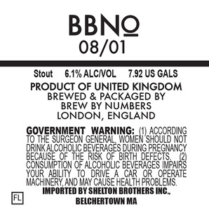Brew By Numbers 08/01