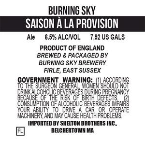 Burning Sky Saison A La Provision