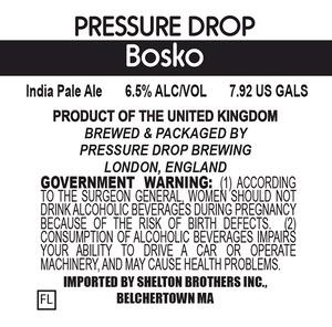 Pressure Drop Bosko
