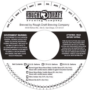 Rough Draft Brewing Company Barrel-aged Stout Stout Baby