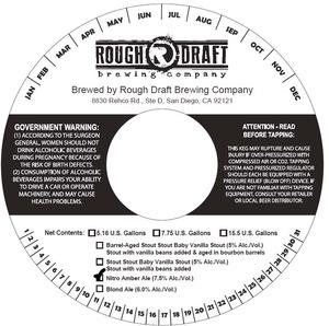 Rough Draft Brewing Company Nitro Amber Ale