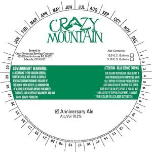 Crazy Mountain Anniversary Ale