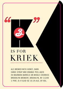 Brooklyn Brewery K Is For Kriek