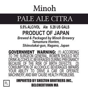 Minoh Pale Ale Citra